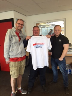 Chris Faulkner, Mark Dyer & Dave Shaw before the Shawston Shave