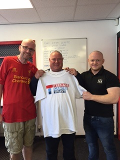 Chris Faulkner, Mark Dyer & Dave Shaw after the Shawston Shave