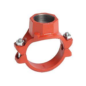 Mechanical Tees BSPT, Style 920 920N - Red Orange