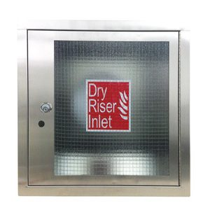 Inlet Fire Cabinet - Stainless Steel